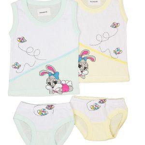 AS19 комплект для девочки (майка+трусы) для девочки, цвет ассорти, состав 100% хлопок, размер 92-98, 104-110, 116-122