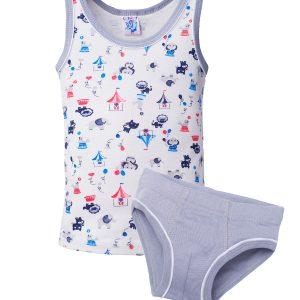 EL-33 комплект для девочки (майка+трусы) для девочки, цвет ассорти, состав 100% хлопок, размер 92-98, 104-110, 116-122