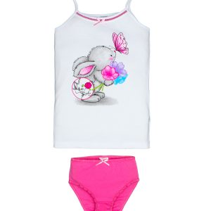 EL82 комплект для девочки (майка+трусы) для девочки, цвет ассорти, состав 100% хлопок, размер 92-98, 104-110, 116-122,128-134