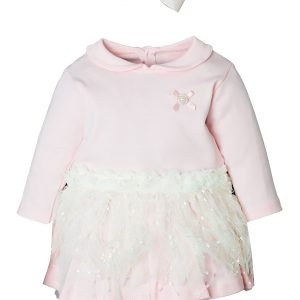 FK30 pink платье для крещения Цвет розовый, размер 0-3-6-12 мес.